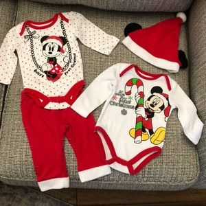 Disney twin boy and girl First Christmas outfits